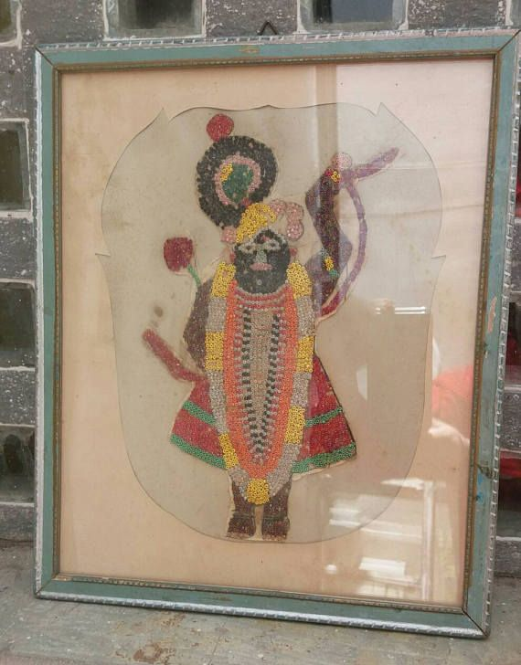 Check out this item in my Etsy shop https://www.etsy.com/uk/listing/520227960/an-adorable-beadwork-shrinathji-from