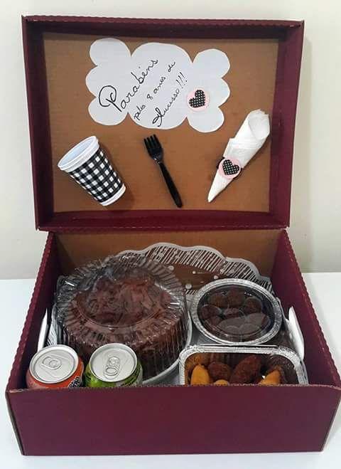 Surpresa para namorado  festa na caixa  presentes  aniversário de