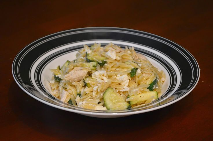Hot Orzo Chicken Pasta Salad