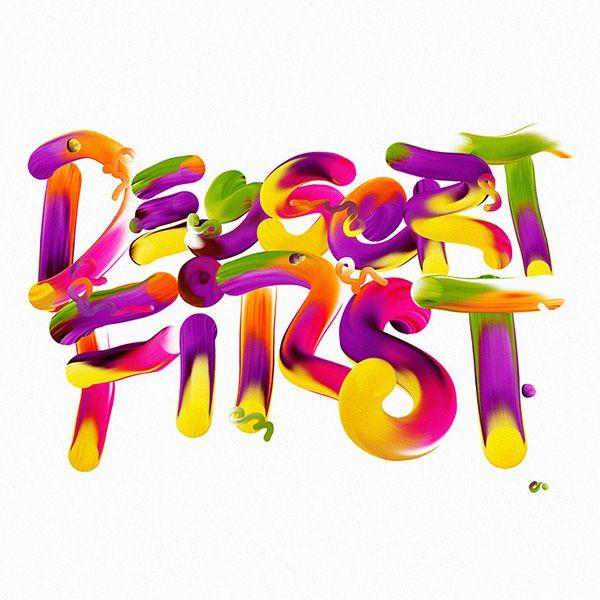 Designer Creates Vivid Typographic Experiments Of His Personal Notes