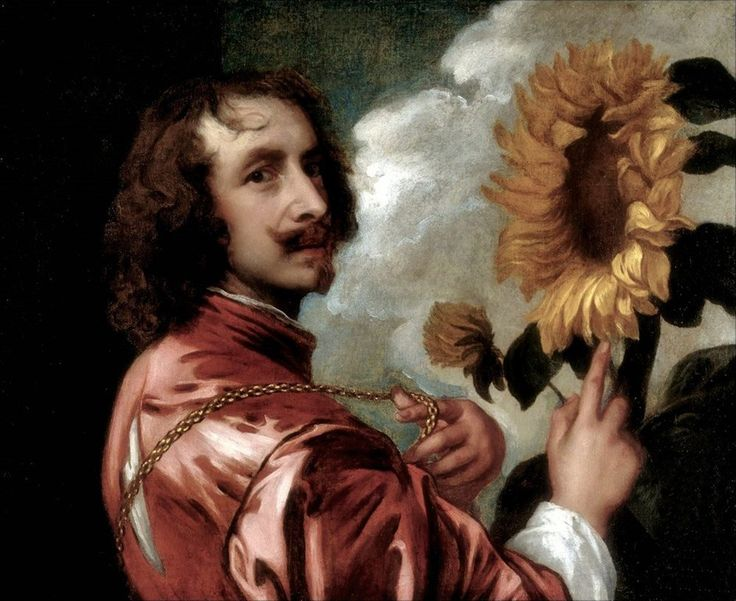Antoon van Dyck · Autoritratto con girasole · 1632-33 · Collezione privata