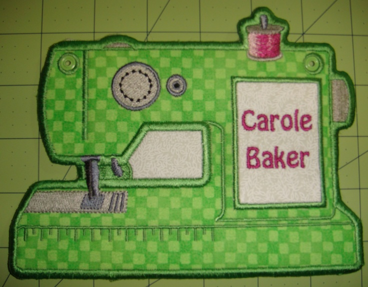 Everyone needs a name tag for their sewing machine, right?