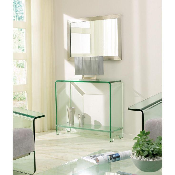 glazentafel.com | Glazen Side-Table Cannes | 3510 Curved Series | Gebogen, luxe side-table van helder glas met een transparante legplank. De side-table is gemaakt van Safety Glass met een dikte van 19mm.   Over Safety Glass Safety Glass is veel sterker dan normaal glas. Een ander eigenschap is nog belangrijker. Mocht het meubel kapot gaan, dan valt het in ongevaarlijke brokjes uiteen. Er ontstaan géén gevaarlijke glasscherven.