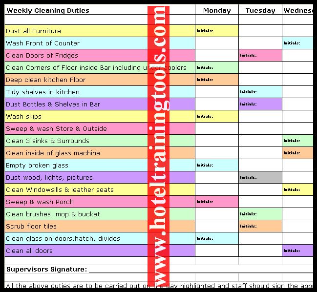 13 best cleaning rota images on Pinterest Clean program - sample cleaning schedule template