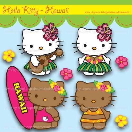 hula hello kitty coloring pages - photo#27