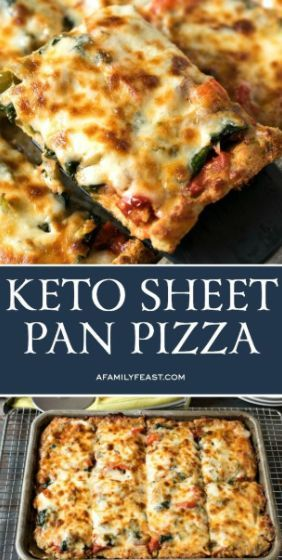 Keto Sheet Pan Pizza Recipe | Amanda Kitchen #keto #ketorecipes #pizza #pizzarec…
