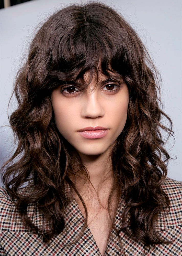 25 Runway Inspired Ways To Style Your Bangs Thick Hair Styles Hair Styles Hairstyles With Bangs