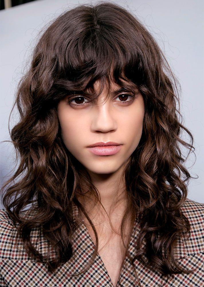 Stylecaster Ways To Style Bangs Wavy Bangs Thick Hair Styles Wavy Bangs Short Wavy Hair