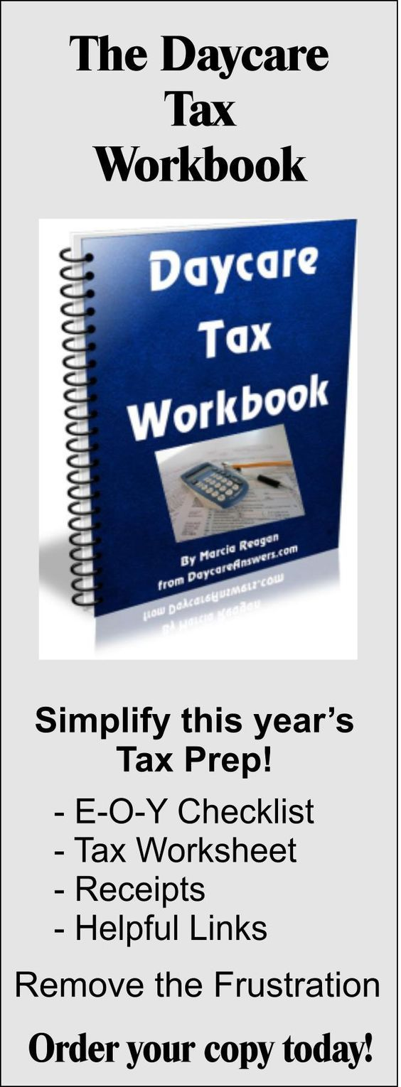 worksheet Home Daycare Tax Worksheet free daycare forms and sample documents business child