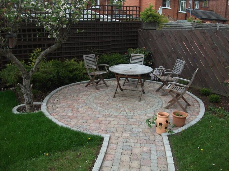 Winding Path And Circular Patio
