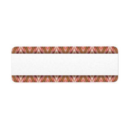 Geometric Pattern | Blank Text Banner Label - return address labels label diy personalize cyo unique design custom