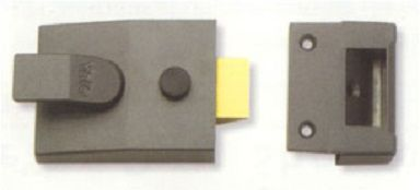 Yale Cyl Rim Nightlatch Non-deadlocking Std Case Only - locks & latches - nightlatches - YALE B-91-DMG-60 Cyl Rim Nightlatch Non-deadlocking Std Case Only - Timber, Tool and Hardware Merchants established in 1933
