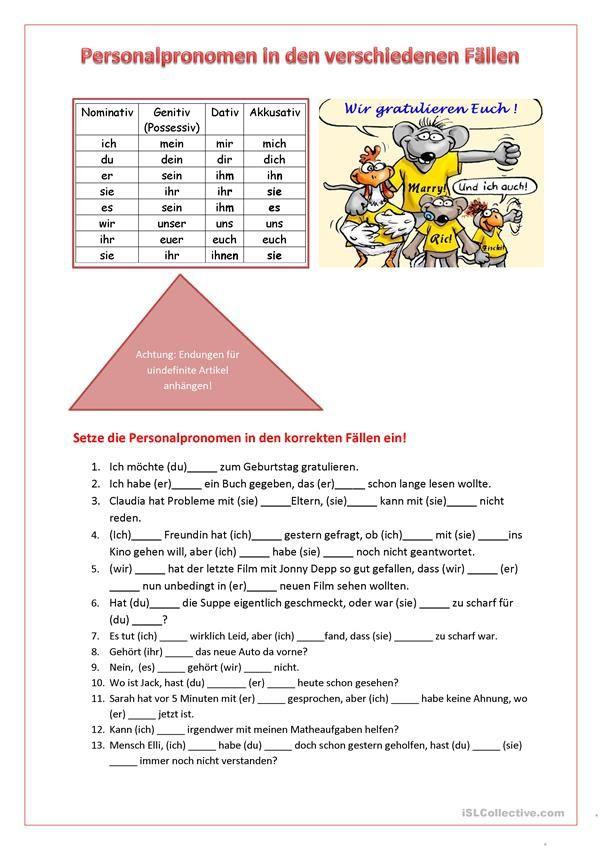 13 best Possesivpronomen images on Pinterest | Learn german ...