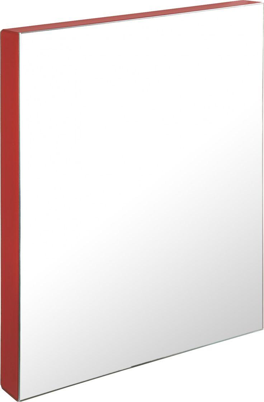 Trude speil med speilbelagte kanter i rødt glass. Dimensjoner: B71 x D5 x H70cm. -50% Før kr. 1520,- Nå kr. 760,-