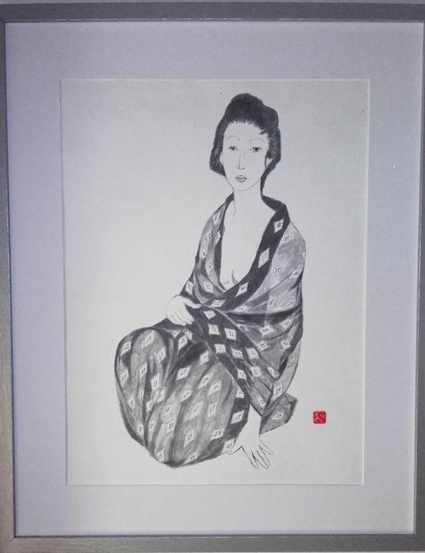 Signora giapponese - Sumi-e