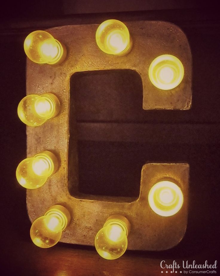 Make Your Own Light Up Marquee Sign Letters! They are portable and can be used standing as part of a display or hanging on a wall. Here's how to make them..