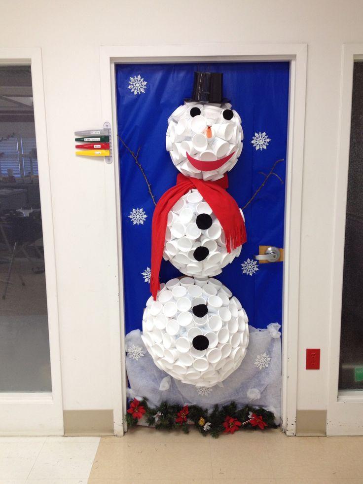 67 best images about office door contest on pinterest for Snowman design ideas