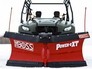 Living with an Iron Mountain, Michigan zip code, the BOSS people known a thing or two about snow, not only how to live with it, but how to move it as well! They've been one of the leading makers of plows for trucks, but now they've branched out into UTV plows as well. The BOSS system is unique in that it has its own self-contained hydraulic system to operate all plow control functions.