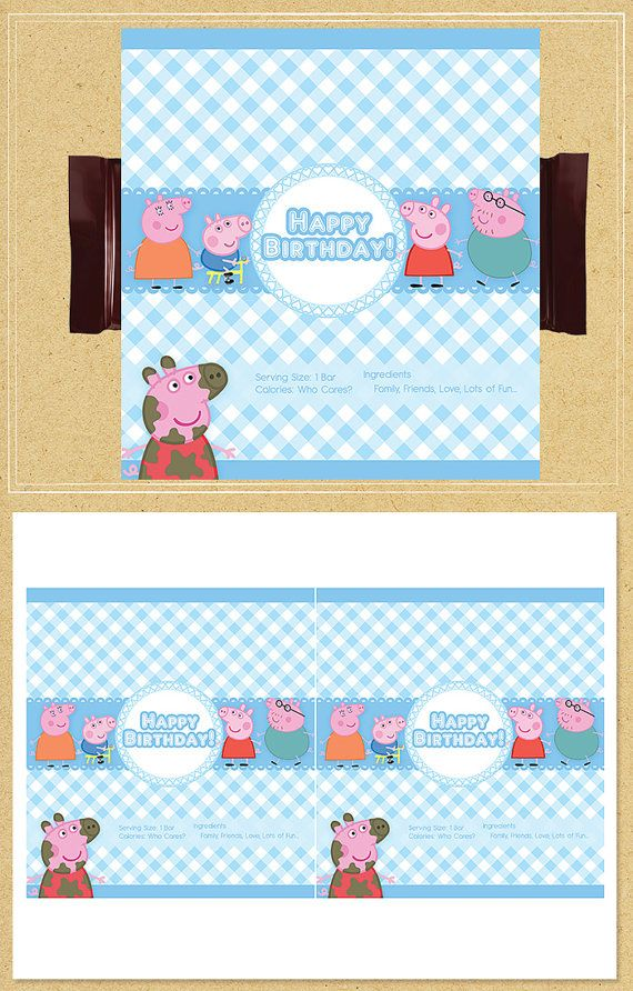 Hey, I found this really awesome Etsy listing at https://www.etsy.com/listing/218931229/peppa-pig-candy-wrappers-blue-plaid
