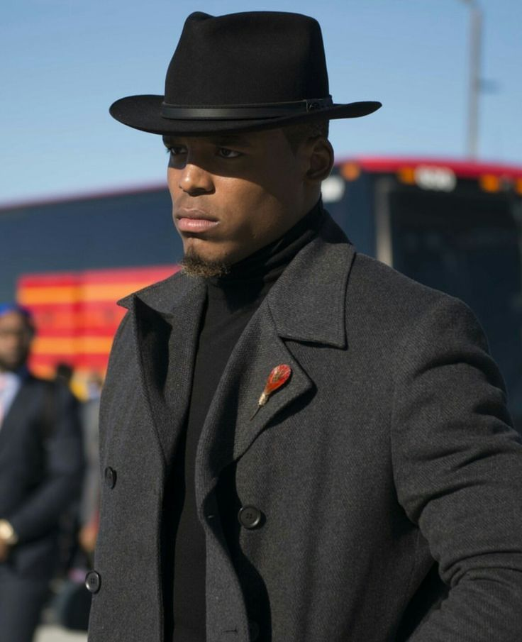 Even with Cam Newton's angry look he always look stylish