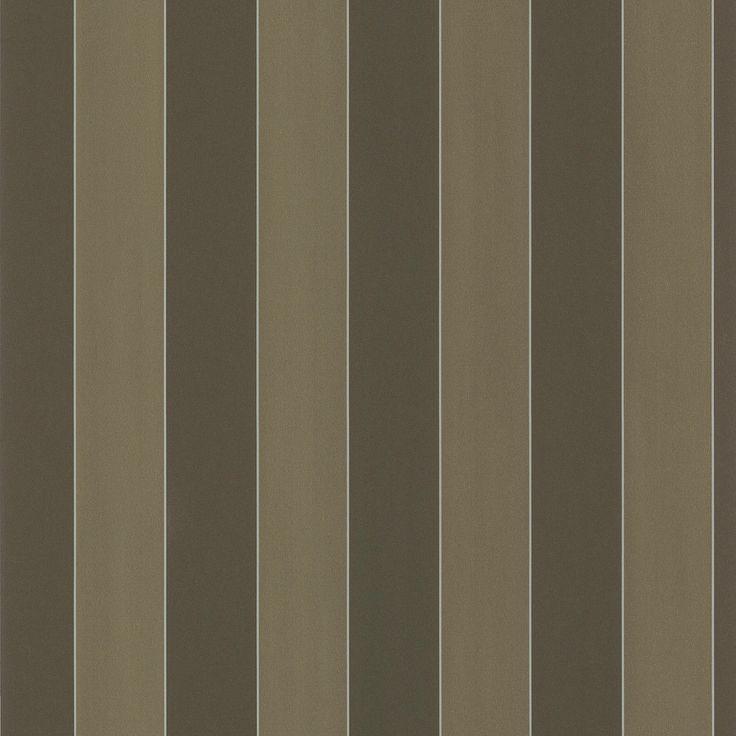 Brewster Dark Brown Stripe Wallpaper (Dark Green Stripe Wallpaper) (Fabric)