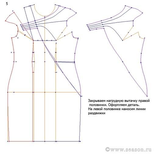 cartamodello completo tubino