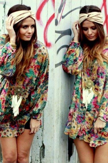!: Boho Chic, Fashion, Hippie, Style, Dress, Turban, Outfit, Bohemian