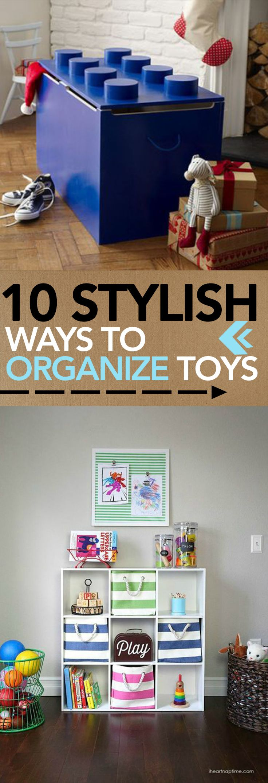 10 Stylish Ways to Organize Toys -