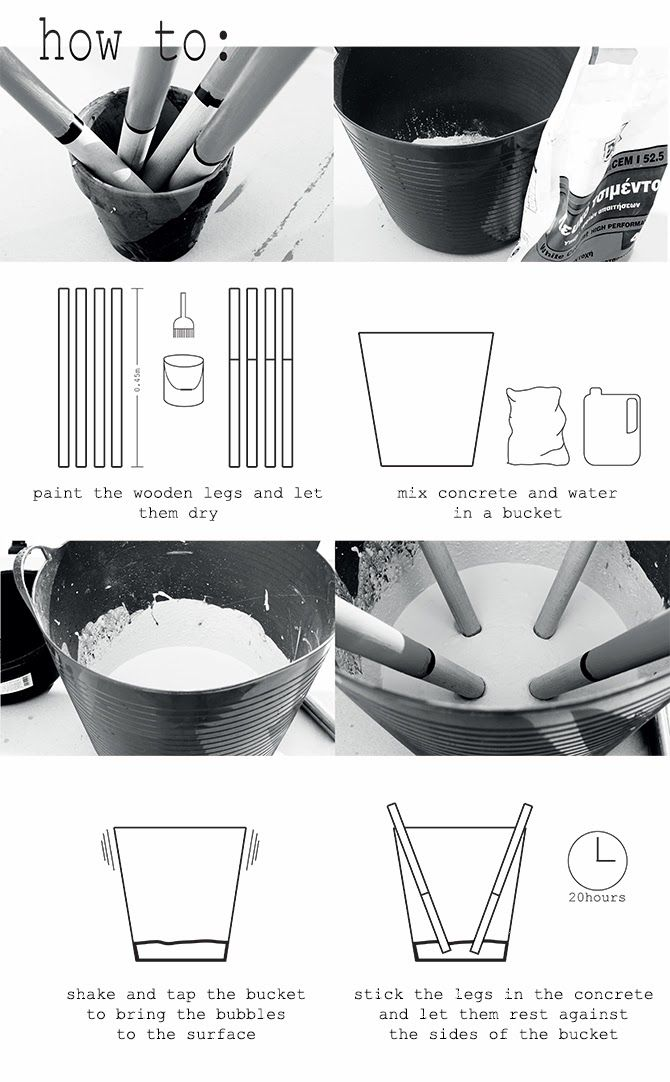 myLifebox: DIY | Concrete Bucket Stool