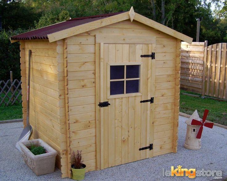 Abri de jardin en bois m alpina en madriers 20mm l for Prix abri de jardin bois