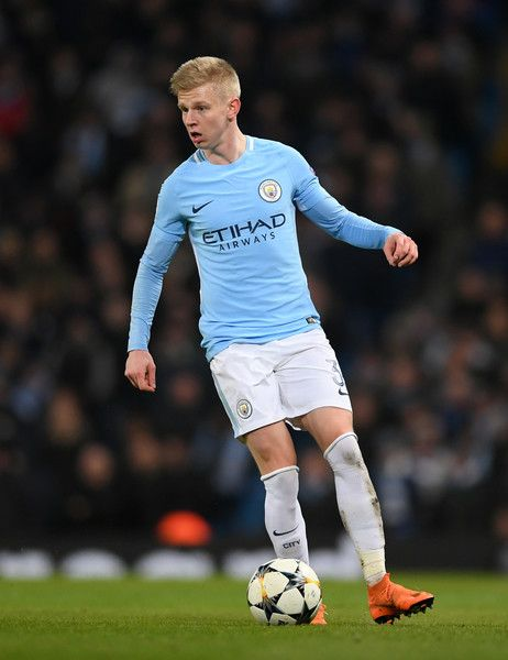 Oleksandr Zinchenko of Manchester City runs with the ball during the UEFA Champions League Round of 16 Second Leg match between Manchester City and FC Basel at Etihad Stadium on March 7, 2018 in Manchester, United Kingdom.