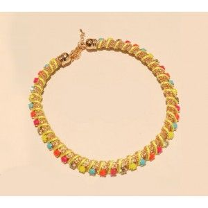 Sparkling Multi-Color Bib Statement Necklace