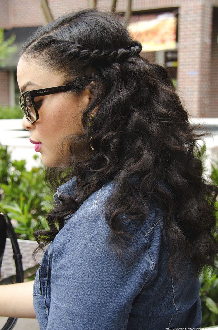 Cute half up, half down hair style