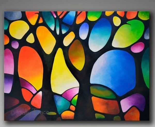 40 Easy Glass Painting Designs And Patterns For Beginners Abstract Tree Painting Modern Art Abstract Abstract Tree