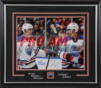 Pro Am Sports - Autographed Pictures - Ryan Nugent-Hopkins & Jordan Eberle Oilers Celebration Dual Signed 11x14 - Edmonton Oi  To order or for more information or pricing please contact info@roadgearsports.com