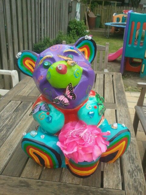 Have a rainbow day.with this lovely rainbowbear
