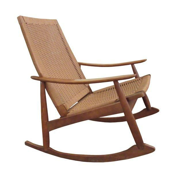 Rocking Chair With Rope Seat