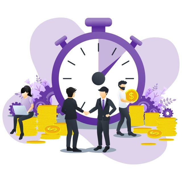 Business Management Concept Money Saving Time Is Money Save Time With Characters Time Management Planning Can Use For Infographics Landing Page Web Template Fla Web Template Business Illustration Time Management