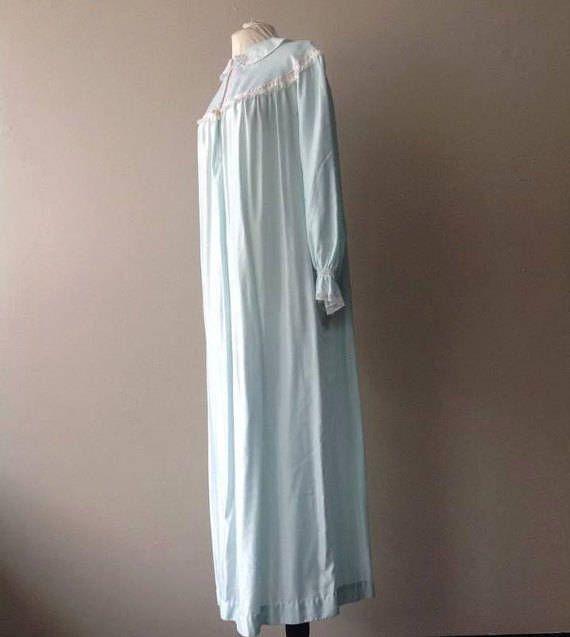 M / Barbizon Nachthemd Dessous / lange Satin Liquid Silk /
