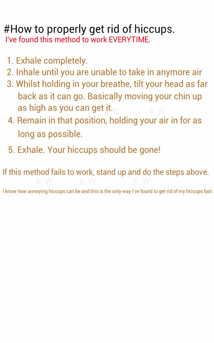 Just had hiccups and thank god I found this, it actually worked unlike the 100 other things I tried