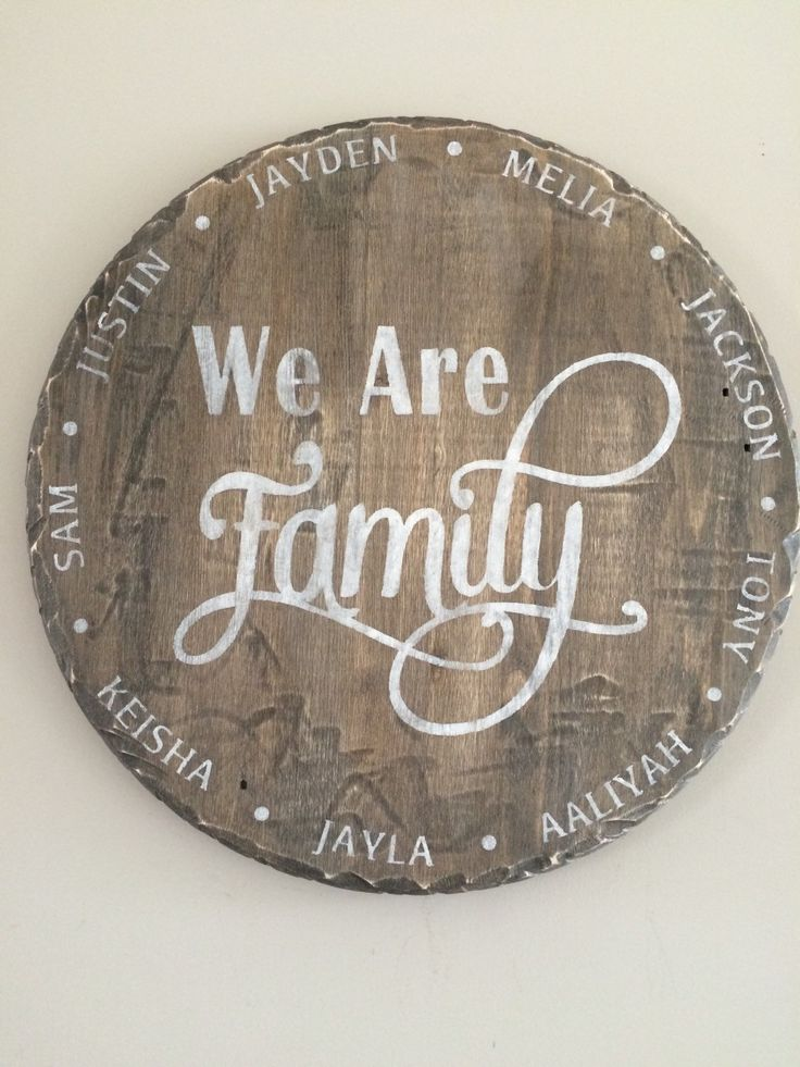Wood Family Sign, round wood sign, personalized by IronwoodNorthDesign on Etsy https://www.etsy.com/listing/229909835/wood-family-sign-round-wood-sign