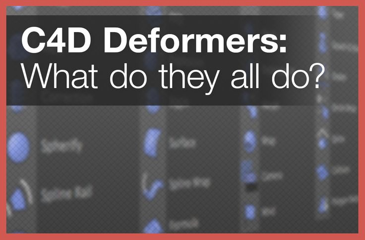 A list of all of Cinema 4D's Deformers with detailed descriptions and videos of how to set them up, how they work, and some examples of what you can do.