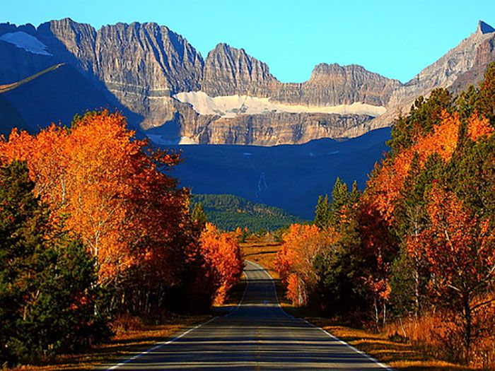 Maine Fall Foliage Wallpaper Glacier National Park Montana Most Breathtaking