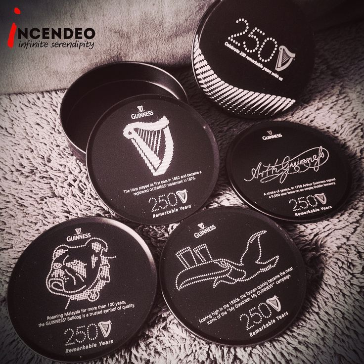Guinness 250 Years Anniversary Limited Edition Coasters (2009). #guinness #250 #anniversary #limitededition #beer #coasters #tin #collection #collectible #incendeo #infiniteserendipity #黑狗啤 #二百五十年 #纪念 #收藏