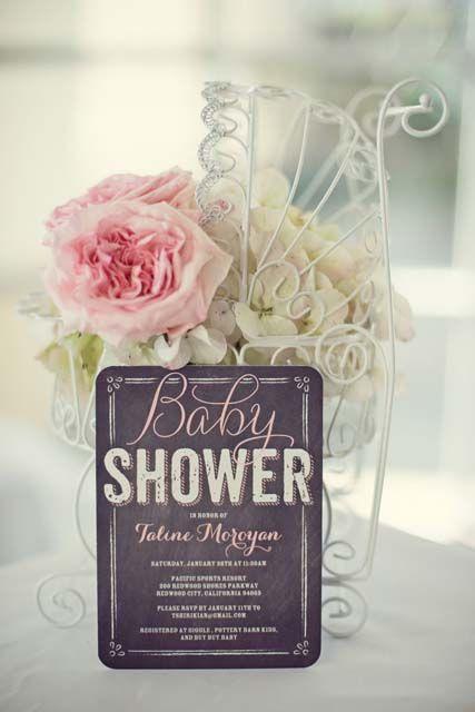 Little Birdie Shabby Chic Baby Shower | Tinyprints Blog
