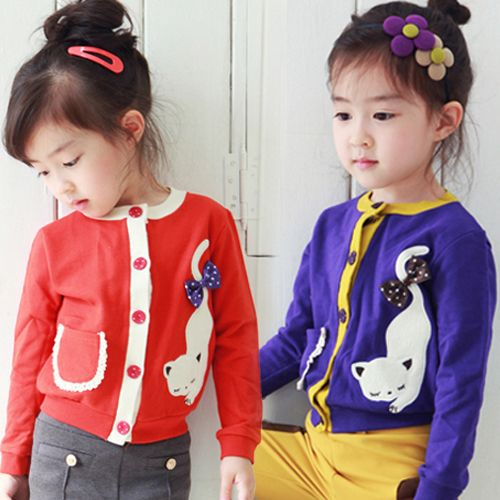 Aliexpress.com : Buy 2014 spring and autumn and the cat girls clothing baby child cardigan wt 0739 on Kids Fashion Clothing - Worldwide Whol...
