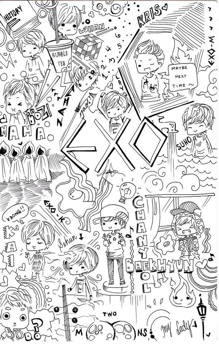 EXO doodle by Erubii.deviantart.com on @deviantART