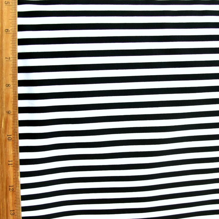 "The Fabric Fairy Black and White 1/4"" Stripe Nylon Lycra Swimsuit Fabric"