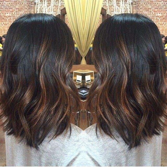 Image Result For Balayage Short Hair Black Hair Balayage Balayage Hair Dark Hair Lengths