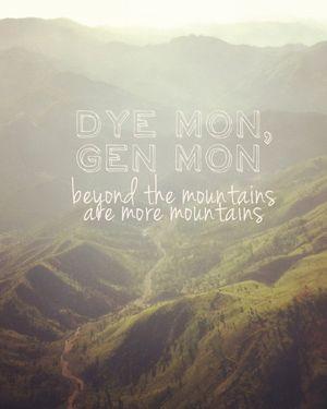 """""""Dye mon, gen mon."""" Haitian proverb"""